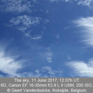 Pluimwolken boven België